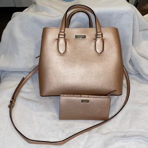 Rose Gold Kate Spade Purse and Wallet